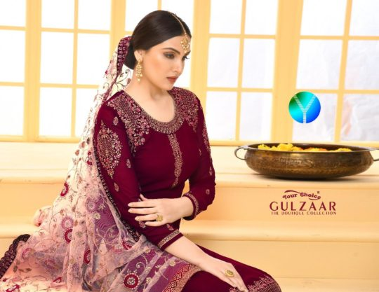 dc5736c503 YOUR CHOICE GULZAAR 3123 TO 3126 SERIES INDIAN TRADITIONAL WEAR COLLECTION  BEAUTIFUL STYLISH FANCY COLORFUL PARTY WEAR & OCCASIONAL WEAR SATIN  GEORGETTE